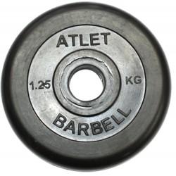 Диски обрезиненные Barbell, втулка резиновая, 26 мм,  вес от 1.25 до 25 кг