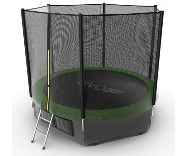Батут Evo Jump External 10ft (Green) + нижняя сеть