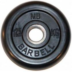 Диски обрезиненные Barbell, втулка металл, 26 мм.  Вес от 1.25 до 25 кг